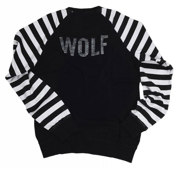 "EL SOLITARIO - ""Lone Wolf Racing Sweatshirt"" - schwarz/weiß"