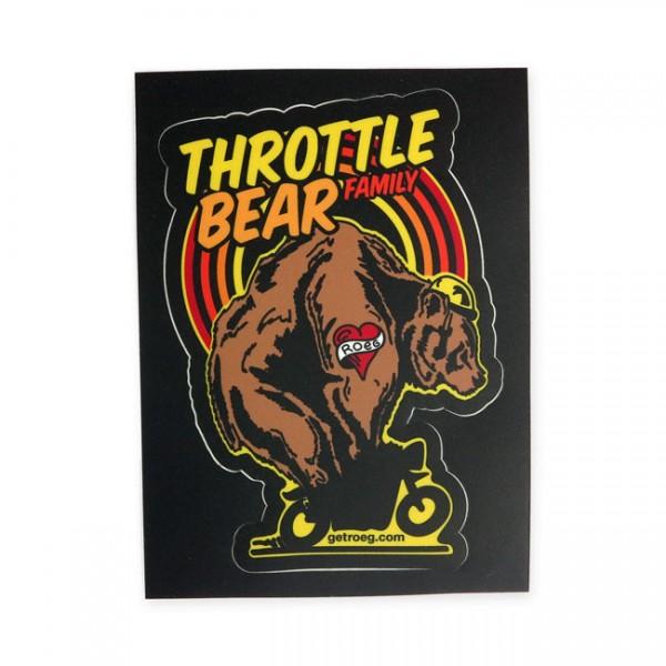 "ROEG Aufkleber - ""Throttle Bear"""