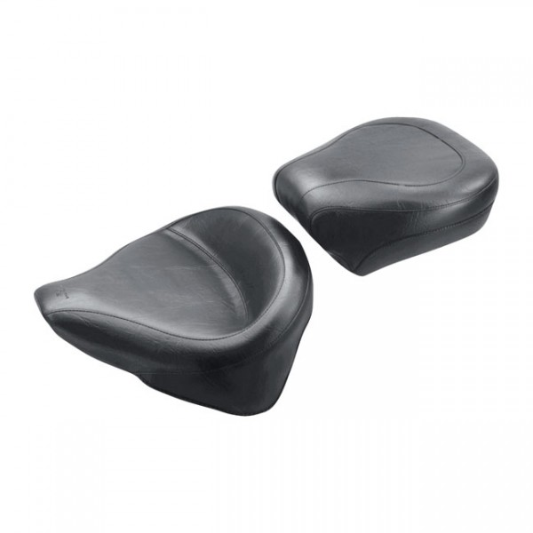 """MUSTANG Seat - """"Mustang, Wide Touring solo seat"""" - (00-15 Softail with 150 tire, excl. Deuce) 05-15 FLSTN; 07-15 FLSTC; 00-05 FLSTSC; 00-07 FLSTS (NU)"""