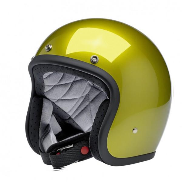 Biltwell Bonanza Metallic Sea Weed Open Face Helmet with DOT