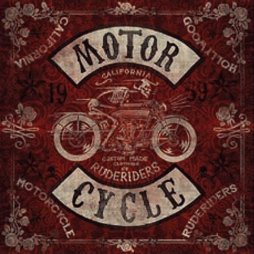 "RUDE RIDERS Tuch - ""Motor Cycle"" - 130 x 130 cm"