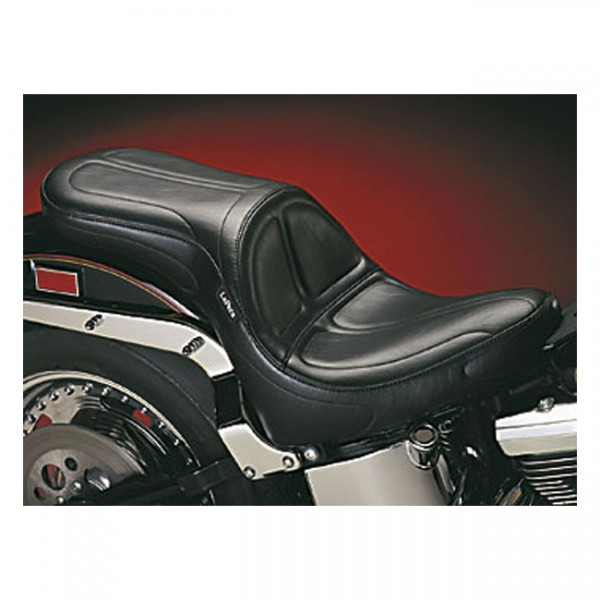 """LEPERA Seat - """"LePera, Maverick 2-up seat"""" - 00-17 Softail (excl. Deuce) with up to 150mm rear tire (NU)"""