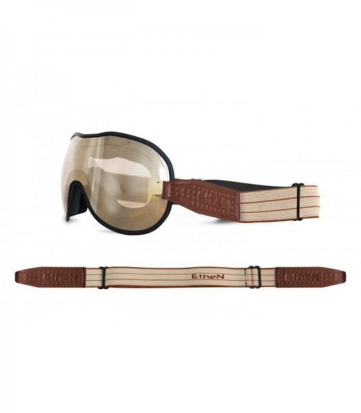 """ETHEN Goggles - """"Cafe Racer CR0101"""" - light brown mirrored"""