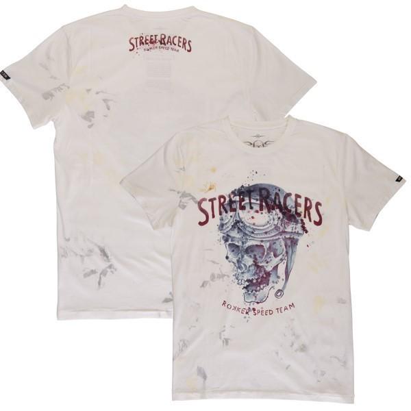 """ROKKER T-Shirt - """"Street Racers"""" - creme-weiss"""