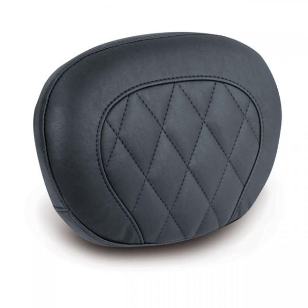 """MUSTANG Sitz - """"Mustang, sissy bar back pad. Black. Diamond"""" - 97-20 FLHR, FLHT, FLTR; 06-20 FLHX"""