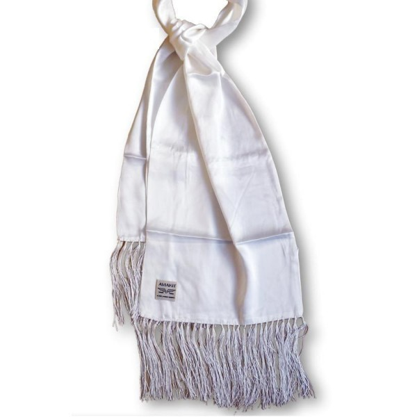 "LEWIS LEATHERS Scarf - ""Aviakit"" - white"