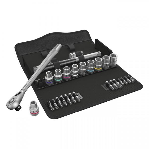 "WERA Tools - ""Zyklop metal ratchet switch kit 1/2"" drive US sizes"" - Torx®, Hex head (Allen heads) and Phillips screws"