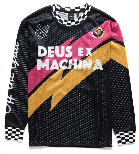 DEUS EX MACHINA Curlewis Moto Jersey schwarz