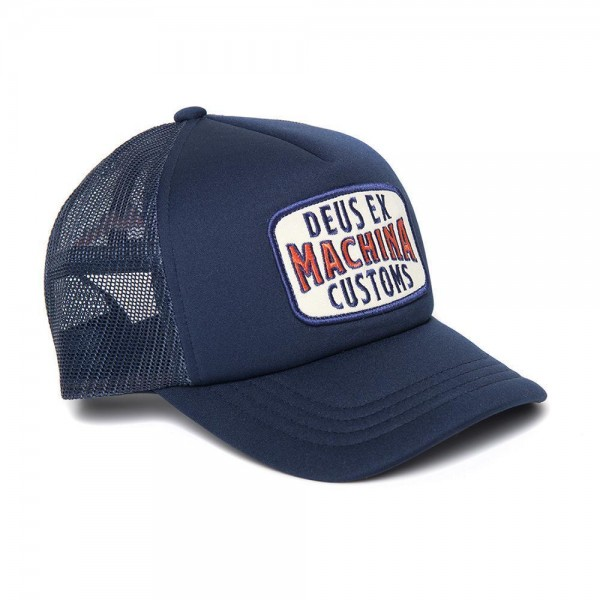 """DEUS EX MACHINA Hat - """"Title Trucker"""" - blue"""