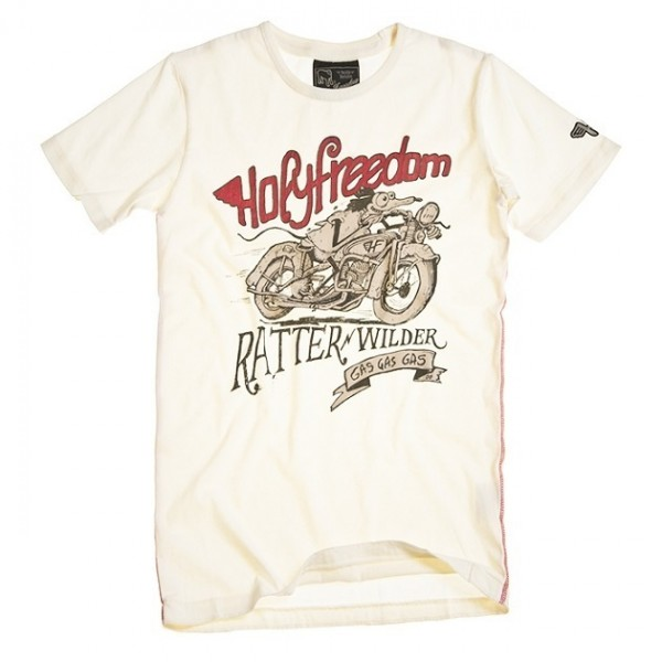 "HOLY FREEDOM T-Shirt - ""Ratter White"" - white"