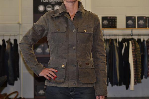"""ROKKER Women's Jacket - """"Wax Cotton Jacket Lady"""" - green"""