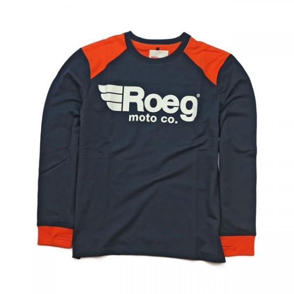 ROEG Langarm Shirt Ricky in blau und orange