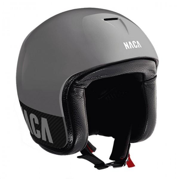 NACA open face helmet Riviera in grey