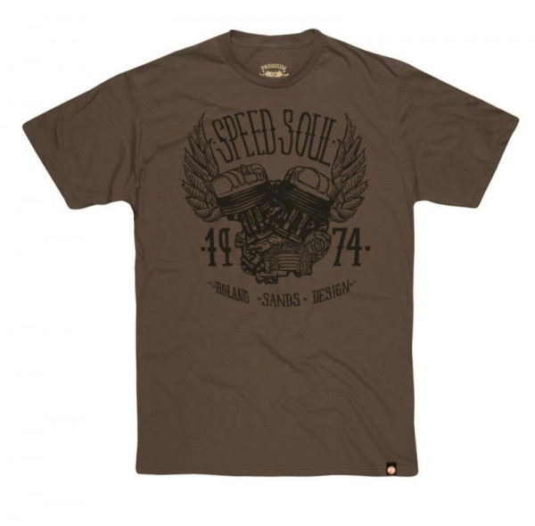 "ROLAND SANDS T-Shirt - ""Speed Soul"" - army-olivgrün"