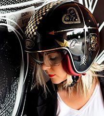 PREMIER Vintage Open Face Helmet with Visor