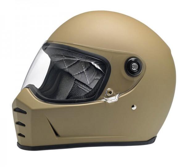 BILTWELL Lane Splitter Flat Coyote Tan Motorcycle Helmet