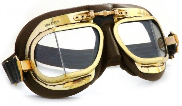 "HALCYON Goggles - ""Mark 49 Compact Antique"" - brown"