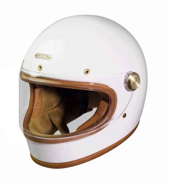 HEDON Heroine Racer Knight White Motorcycle Helmet