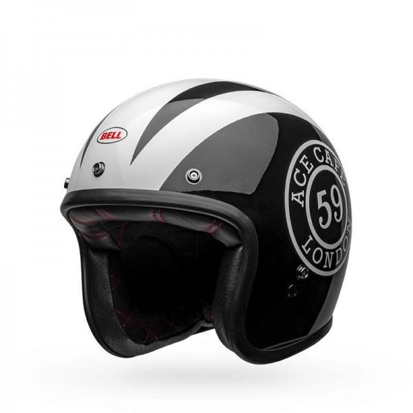 BELL Motorcylce Helmet Ace Cafe Black White