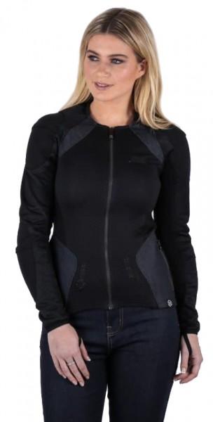 "KNOX Women's Armoured Shirt - ""Urbane Pro"" - black & denim"