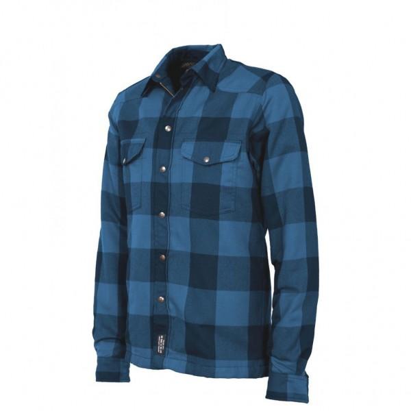 JOHN DOE Motoshirt blau schwarz kariert