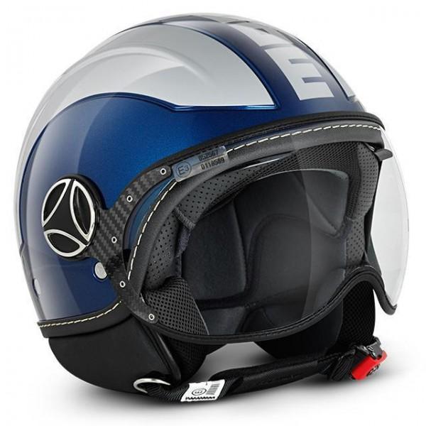 MOMO Helm - AVIO - Blau-Metallic-Silber