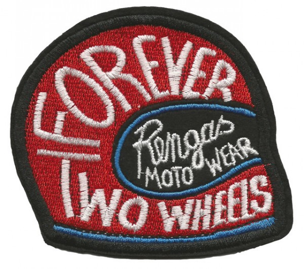 """RENGAS Aufnäher - """"Forever Two Wheels"""" - rot"""