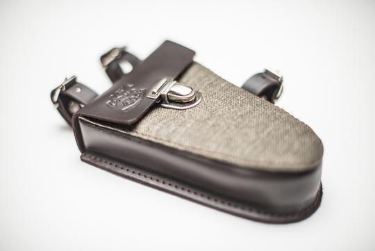 "CRAVE FOR RIDE - ""Micro Frame Bag"" - olive & dark brown"