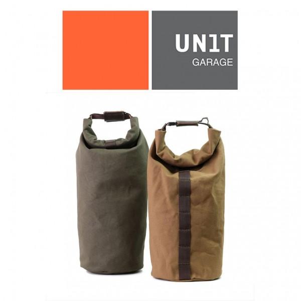 UNITGARAGE Roll Canvas Gepäckrolle in Grün oder Hellbraun