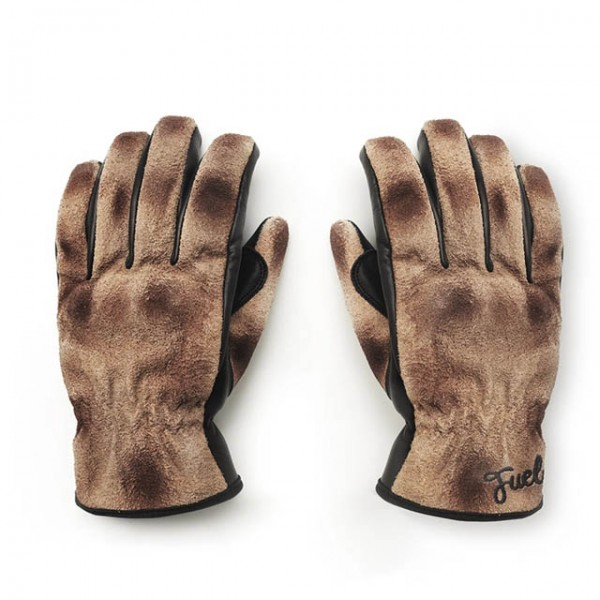 FUEL Gloves Track in Brown and Black
