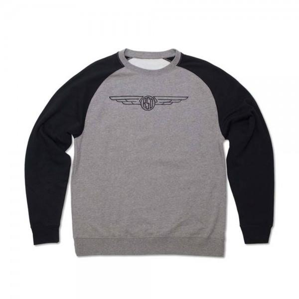 "ROLAND SANDS Men's Sweater - ""Crew 74"" - grey & black"