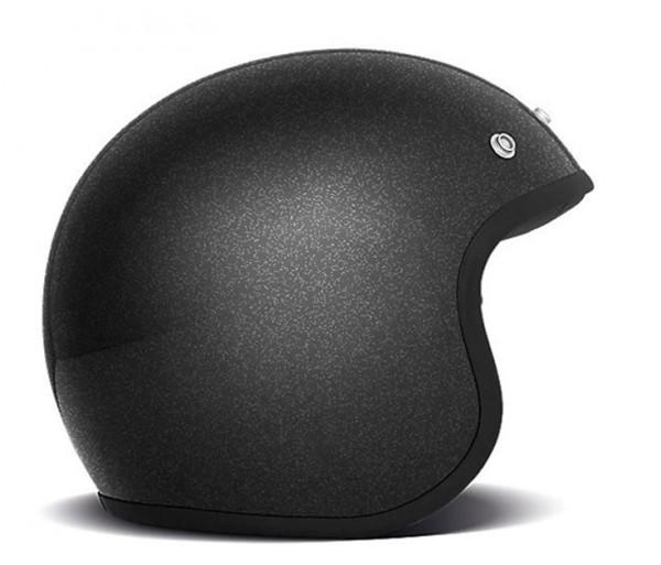 DMD Open Face Helmet Vintage Glitter Black