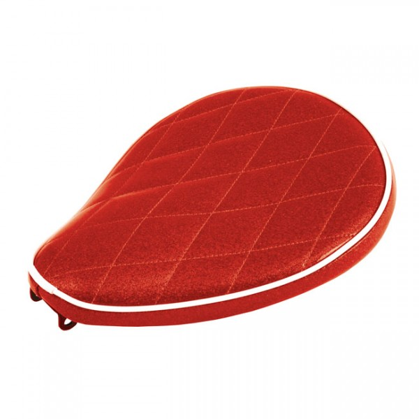 """LEPERA Seat - """"LePera, Spring mounted Metalflake solo seat. Candy red"""" - Univ."""