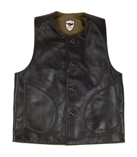 """EL SOLITARIO Vest - """"Macone Leather Vest Lightweight Olive"""""""