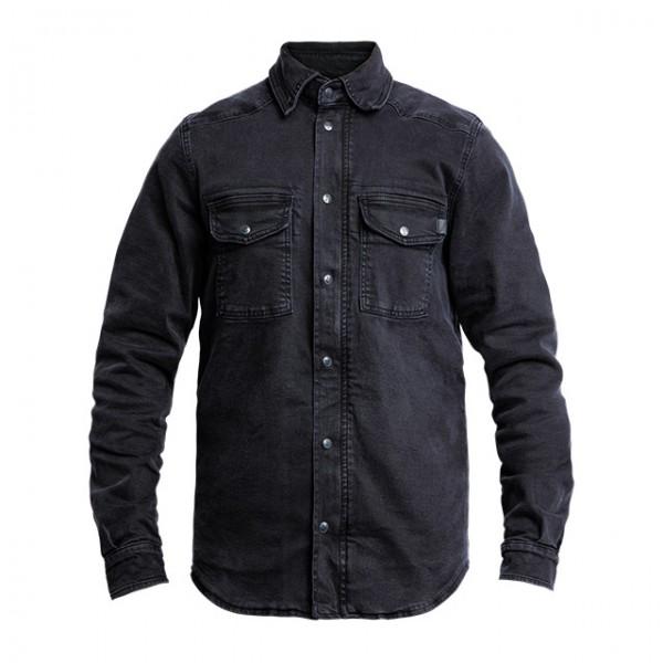 JOHN DOE Motorradhemd Motoshirt Denim schwarz