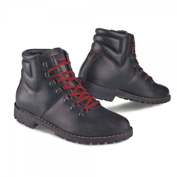 "STYLMARTIN Motorcycle Boots - ""Red Rock"" - waterproof brown"