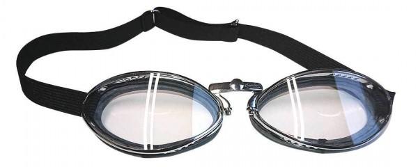 AVIATOR Goggles Mod 4600 Retro with chrome frame and rubber pad