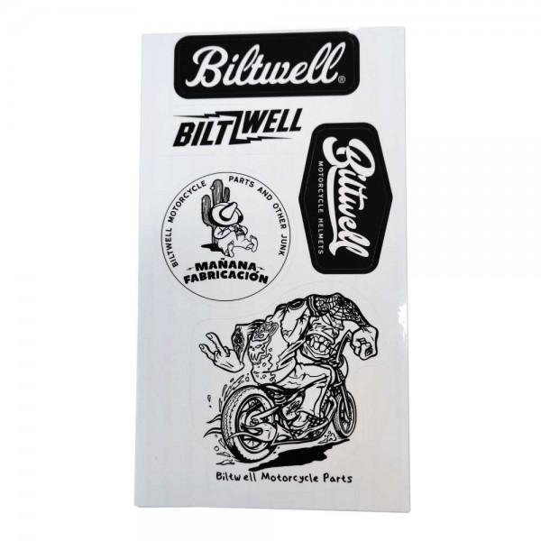 BILTWELL Sticker Sheet A mit 5 Stück