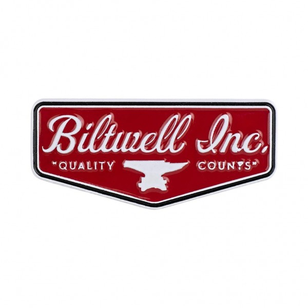 "BILTWELL Pin - ""Shield Red/ White"""