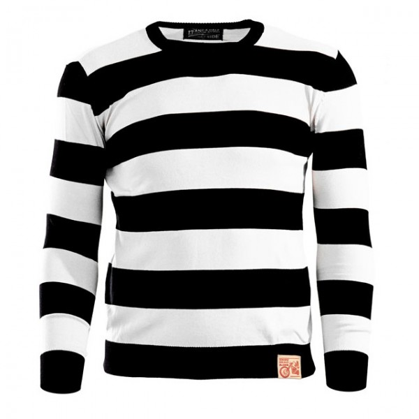 13 1/2 Magazine Sweater Outlaw black and white