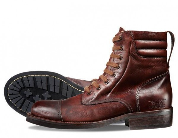 """ROKKER Boot - """"Urban Racer 8 inches"""" - motorcycle boots - dark brown"""