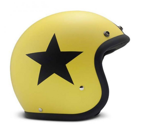 DMD Open Face Helmet Vintage Star Yellow