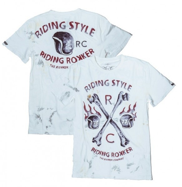 "ROKKER T-Shirt - ""Riding Style"" - off-white"
