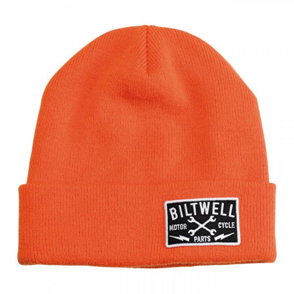 "BILTWELL Mütze - ""Patch Beanie"" - orange"