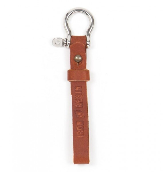 "IRON & RESIN Key Chain - ""Key Fob"" - tan"