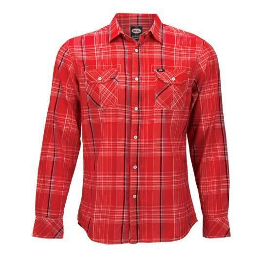 "BELL Men's Shirt - ""Nelson Western"" - red-plaid"