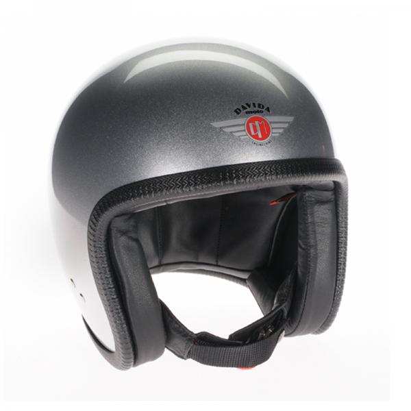 DAVIDA open face helmet Speedster v3 Grain Silver ECE and DOT