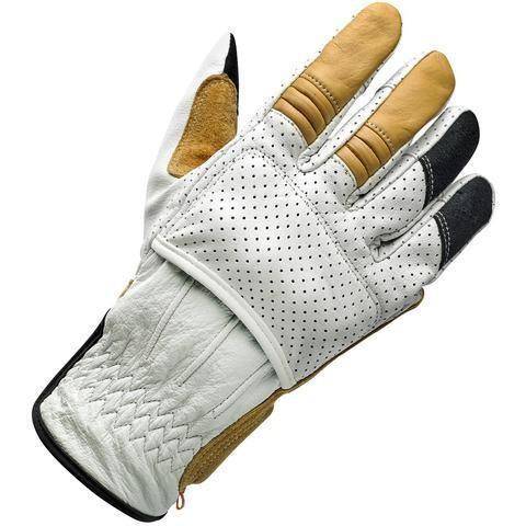 """BILTWELL Handschuhe - """"Borrego Cement CE"""" - weiß, braun & schwarz"""