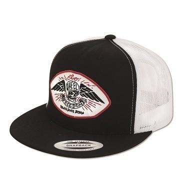 """ROLAND SANDS Hat - """"Freedom Trucker"""" - black & white"""